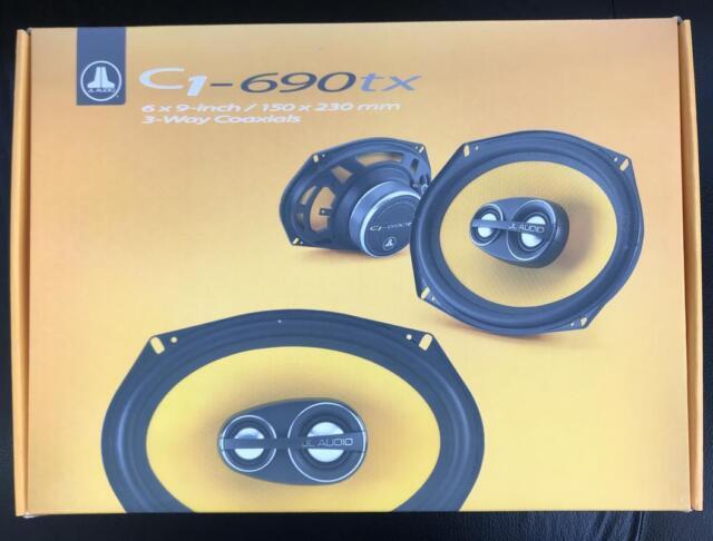 "JL Audio C1-690tx 6""x9"" 3-Way Car Audio Coaxial Speakers Pair Aluminum Tweeters"
