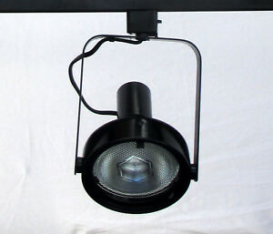 Details About Lightolier Track Lighting Light Head Par 38 Black 250w Multidirection Spot