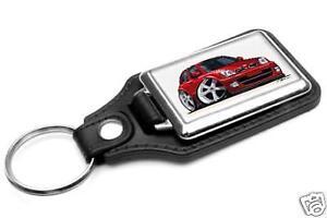 RetroArtz Cartoon Car Nissan Juke Mini SUV in Blue Premium Metal Key Ring