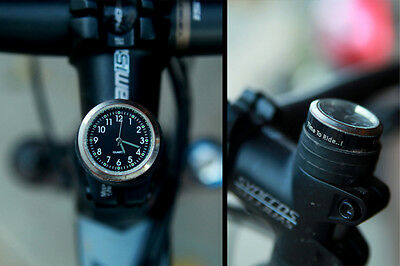 BLACK STEM BLACK CAPTAIN BICYCLE BIKE STEM CAP MOUNT ANALOG CLOCK NEW
