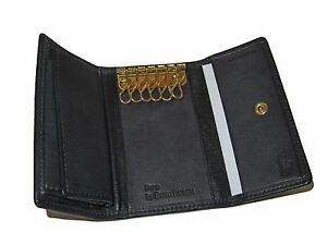 Polo Ralph Lauren Slim Black Key Wallet Spain Leather Keycase Coin ... 36307defcaa