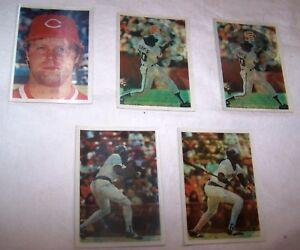 Details About 1986 Sportflics Baseball Cards Holograms Lot Of 5
