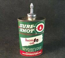 Vintage NATIONAL SURE SHOT HANDY OIL LEAD TOP Rare Old Advertising Tin Can Oiler
