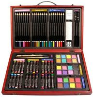 Nicole 79 Piece Studio Art & Craft Supplies Drawing And Painting Set In Wood Box