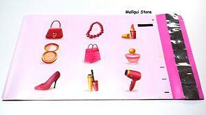 100 - MAKEUP DESIGNER 6 x 9 MAILER POLY BAGS MAILING PLASTIC BAGS Des. #25
