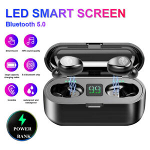 Mini Bluetooth 5 0 Headset Tws Earphones Wireless Earbuds Stereo Headphones Ipx6 Ebay