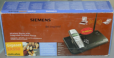Prl) Siemens Wireless Router W/ Integrated Cordless Phone Gigaset Sx550 Sx 550
