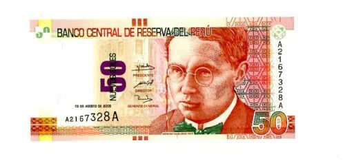Peru ... P-New ... 50 Nuevos Soles ... (13.08.2009) ... *UNC*