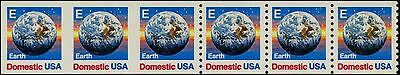 "United States #2279a ""earth"" Strip Of 6 W/ Half Imperf Between Strip Of 3 Unique Error Bp9451 Errors, Freaks, Oddities"