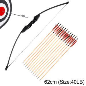 Takedown-Hunting-30-40LB-Tiro-con-arco-Flechas-de-madera-Arco-recto-54-034-Longbow