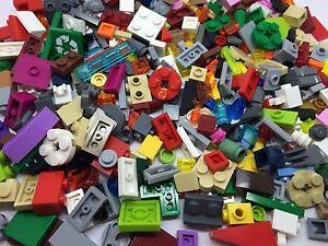 LEGO 200 Piece Good Mix Of Small Cone, Plate, Brick, Parts & Pieces Bag Bundle