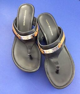 """e0bbee1b6bd Tommy Hilfiger Sandals shoes With 3 1 8"""" Heel Size 5 1 2 Black ..."""