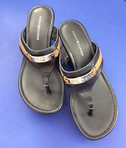 """5bfeb7ef9c9 Tommy Hilfiger Sandals shoes With 3 1 8"""" Heel Size 5 1 2 Black ..."""