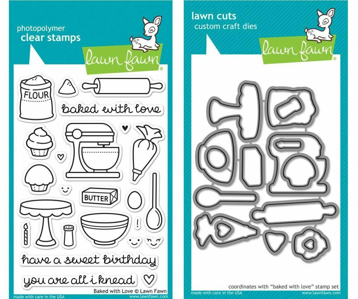 Lawn Fawn Clear Stamps LF805 Baked With Love