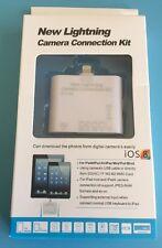 iOS9 Lightning 8pin Camera Connection Kit for iPad4 Air Mini2 card reader USB