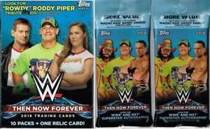 2018-Topps-WWE-Then-Now-Forever-Trading-Cards-1-Blaster-2-Fat-Packs-Combo-Set
