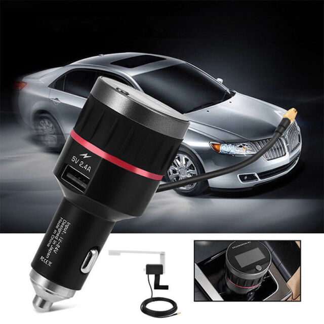 Car DAB + Digital Radio USB Adapter Receiver Tuner + FM Transmitter + Antenna Mm