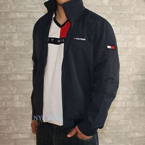New Tommy Hilfiger Mens Yacht Jacket Navy Windbreaker All ...