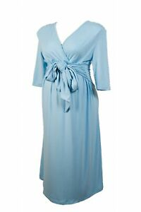 NEW-Lucy-Comfortable-maternity-dress-light-blue