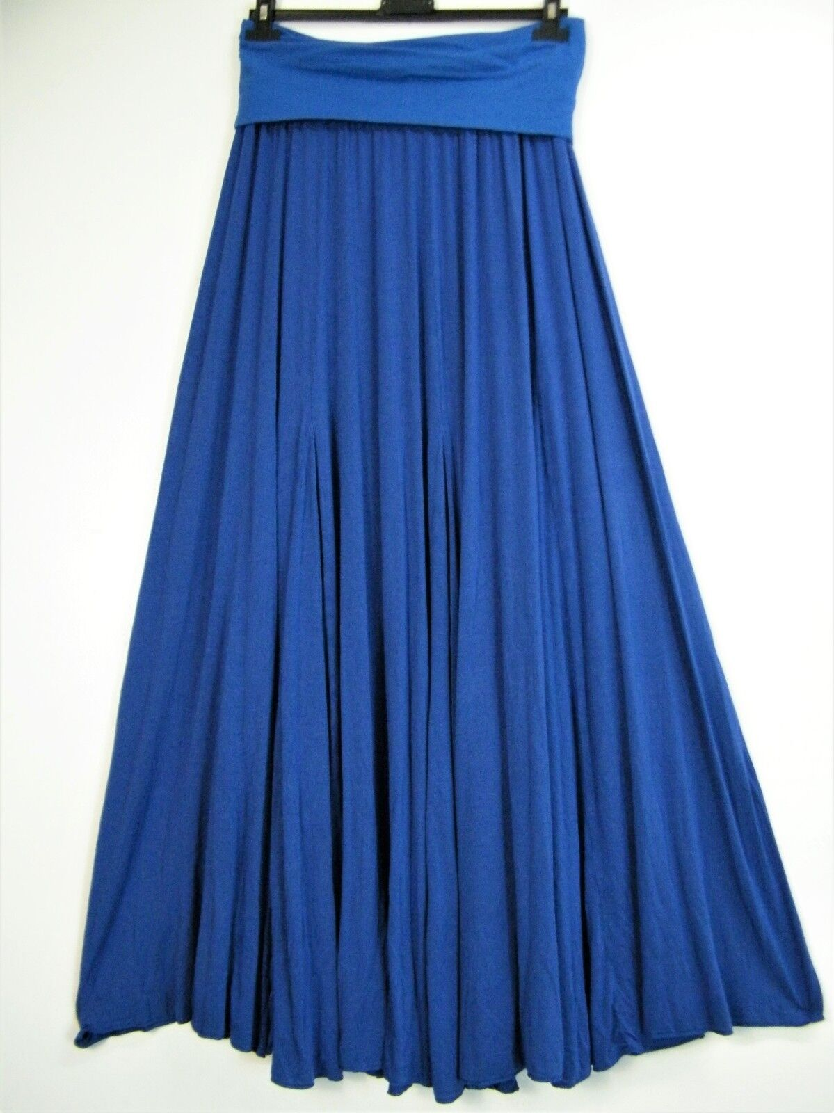 LAGENLOOK 95% VISCOSE 5%ELASTAINE 6 GORED LONG SKIRT 7 COLS ONE SIZE FITS 14-20