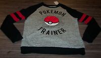 Women's Teen Nintendo Pokemon Trainer Ball Crew Sweatshirt Small W/ Tag