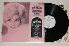 HARLOW Soundtrack Al Ham And Nelson Riddle LP Vinyl Warner Bros.1959 * RARE