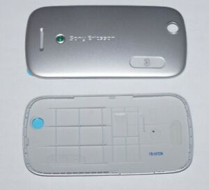 Original Sony Ericsson Zylo W20i Akkudeckel Battery Cover Silber