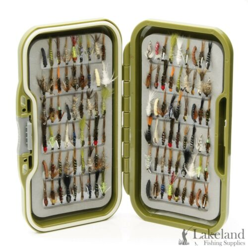 Assorted Mixed Nymph Flies for Trout /& Grayling Fly Fishing Waterproof Fly Box