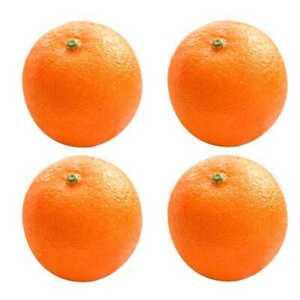 2X-4-Pcs-Soft-Plastic-Simulation-Orange-Fruit-Home-Decoration-Burgundy-L9H6