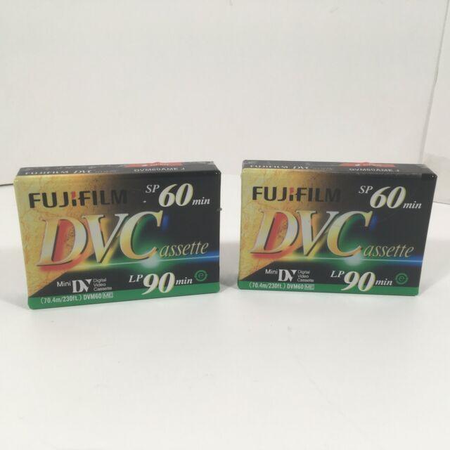 FUJIFILM MiniDV Cassette SP 60 min. LP 90 min. DVM60AME (QTY: 2)