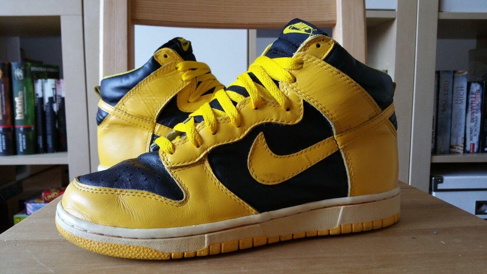 Nike Dunk BTTYS 2007 Yellow gelb Hi 40 6 7 Schuhe Wu Tang Shoes SB Jordan RARE