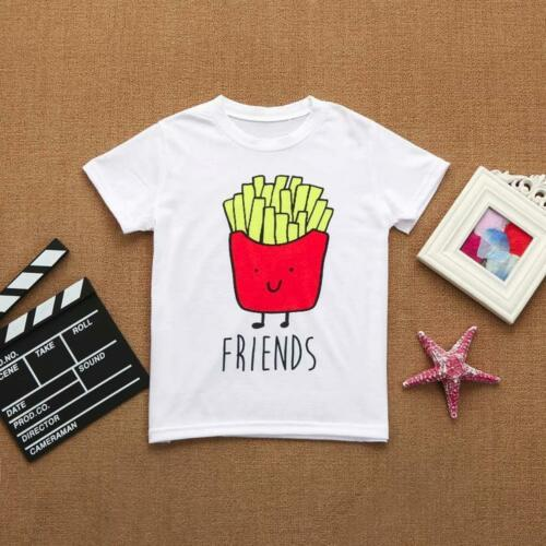 Kids Children Baby Girls Boys Letter Print Soft Tops Cute T-Shirt Clothes