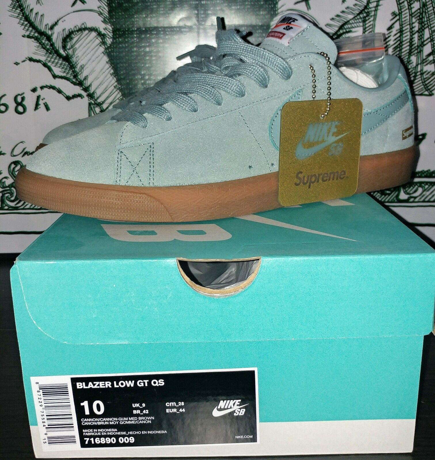 SIZE 10 Nike X SUPREME SB BLAZER LOW GT QS  CANNON FW16 - 716890 009 Cheap women's shoes women's shoes