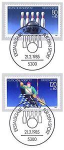 Rfa 1985: Cônes Et Kanuslalom! Sport Nº 1238+1239 Avec Les Bonner Tampons 156-afficher Le Titre D'origine Vente De Fin D'AnnéE