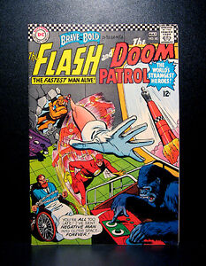 COMICS-DC-Brave-and-the-Bold-65-1966-Flash-Doom-Patrol-RARE-batman