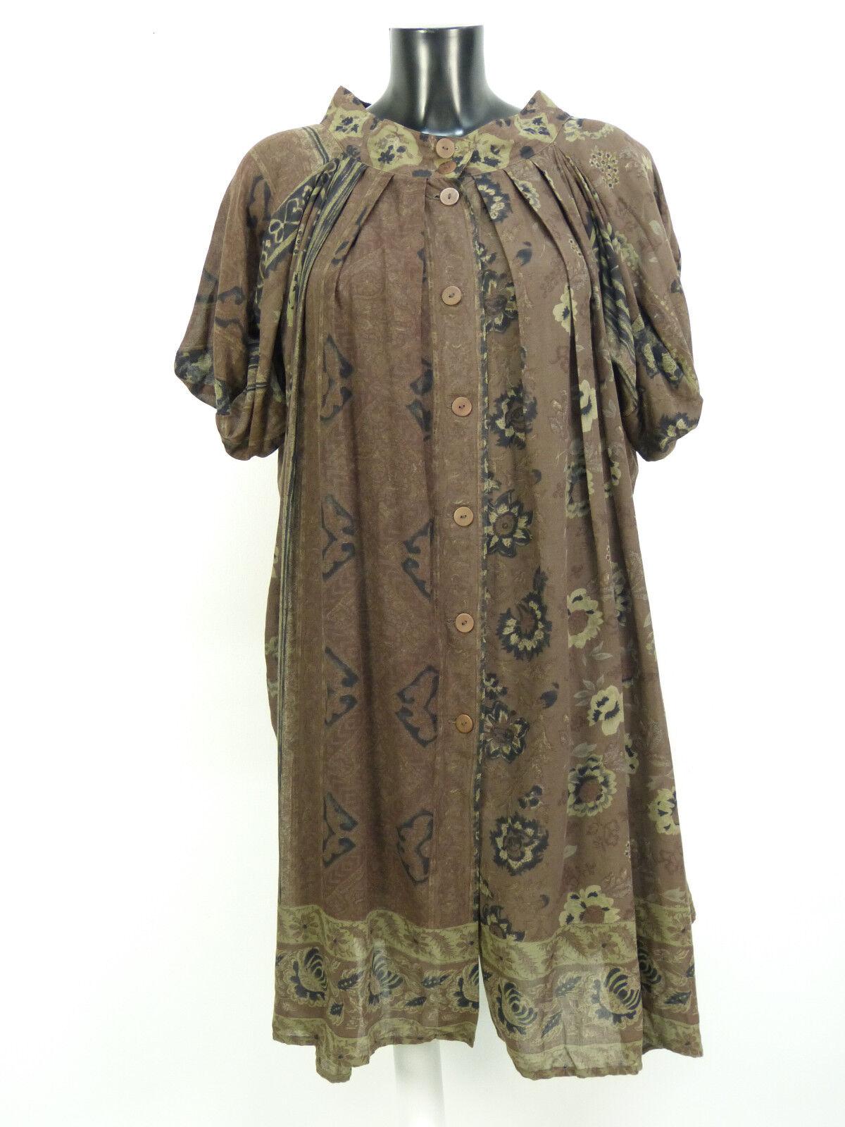 Georges Rech Abito Taglia 38 Marronee Con Pattern & lusso lusso lusso allo stato puro (N 1315) 549ac9