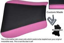 PINK & BLACK CUSTOM FITS TRIUMPH 01-05 SPEED TRIPLE 955 i FRONT SEAT COVER