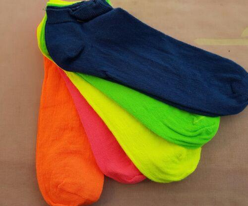 Füßlinge onsesize Sneakers Sneakersocken Socken Strümpfe Neon pink orange grün
