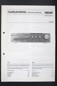 grundig v 8100 original stereo amplifier service manual wiring rh ebay com Grundig Stereo Console Grundig Majestic