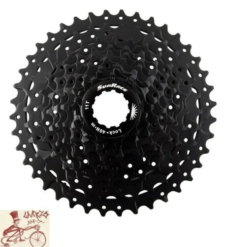 SUNRACE CS-M990  9-SPEED---11-40T MTB--ROAD BLACK BICYCLE CASSETTE