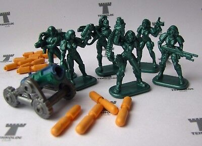 gun Set of 6 Women Felicia Special Force Fantasy Armored Infantry Toy Soldiers