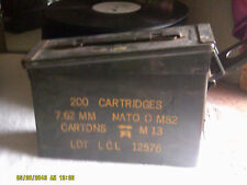 US Military Nato EMPTY Ammo Metal Box 200 Cartridges 7.62MM Nato 0 M82 (*)