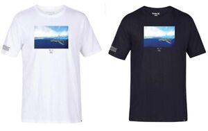 Hurley-Men-039-s-T-Shirt-Clark-Little-Clark-Week-White-or-Black-Multi-Size-Color