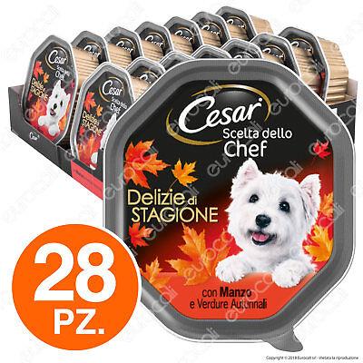 Cesar Scelta dello Chef per Cani Delizie Autunnali - 28 Vaschette da 150g