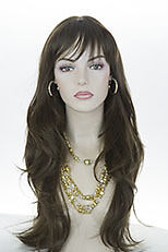 Light Chestnut Brown Brunette Long Straight Wigs