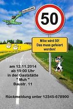 30 lustige Einladungskarten Geburtstag Einladungen jedes Alter möglich 40 50 60