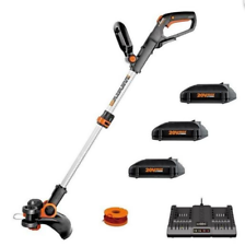 "WORX WG163 20V 12"" Cordless Powershare String Trimmer & Edger w/ (3) Batteries"