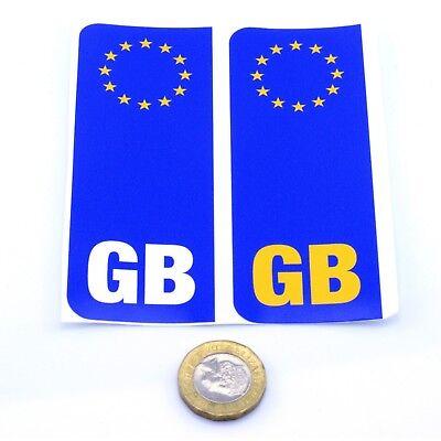 2 x GERMAN Euro Car Number Plate vinyl stickers