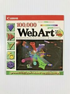 New, Canon Software 100,000 Web Art Picture Browser PC CD-Rom Windows 95 & 98