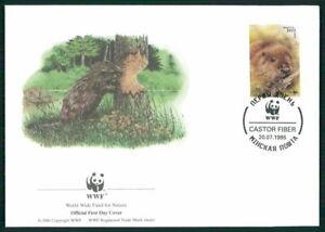 Le Belarus Bijoux-fdc 1995 Wwf Faune Animaux Animals Castor Beaver Castor El86-afficher Le Titre D'origine